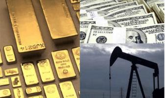 Фьючерсы на нефть и золото подешевели во время американской сессии