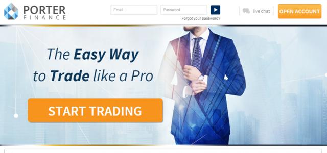 Брокер Porter Finance – бинарные опционы PorterFinance.com