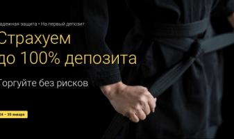 Бесплатные опционы и страхование сделок от Binomo