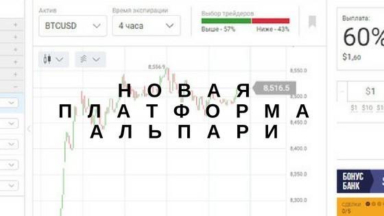 Альпари запускает платформу для бинарных опционов с новыми возможностями