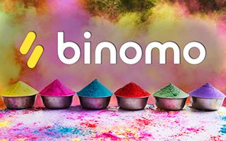 Компания Binomo анонсировала акцию в честь индийского фестиваля красок