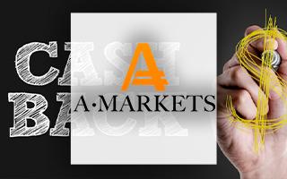 Компания AMarkets предложила трейдерам бонус и повышенный кешбэк за депозит