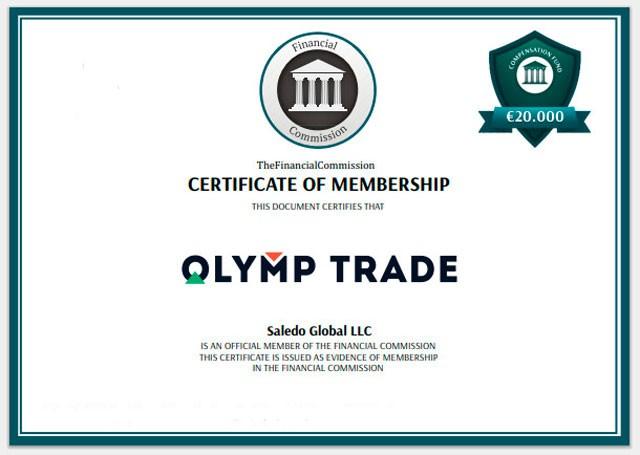 Сертификат члена Финансовой Комиссии
